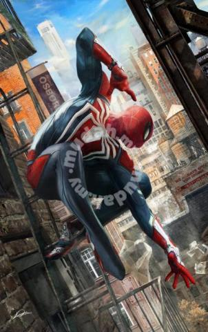Spiderman ps4 poster