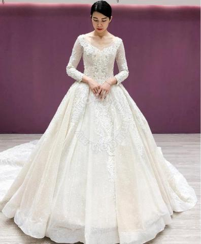 Wedding Gowns With Sleeves.Cream Long Sleeve Wedding Bridal Gown Rb1167 Wedding For Sale In Johor Bahru Johor