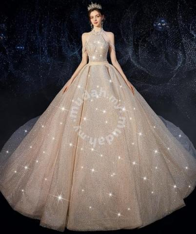 Glitter Wedding Bridal Dress Ball Gown Rb1772 Wedding For Sale In Johor Bahru Johor,Nice Short Dresses For Weddings