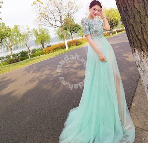 Mint Green Diamond Short Sleeve Wedding Dress Clothes For Sale In