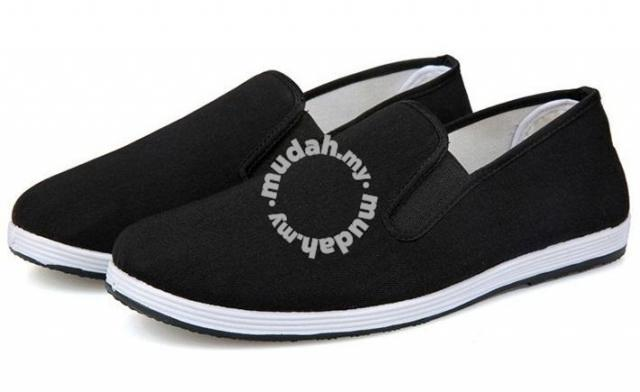 c0d4efbd97b84 0268 Black Canvas Men Loafers Slip On Casual Shoes - Shoes for ...