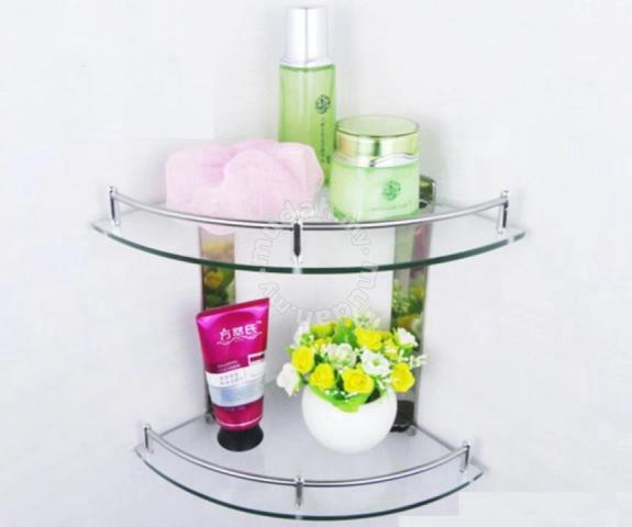 bathroom glass rack t204 corner bed bath for sale in kota kinabalu sabah - Bathroom Accessories Kota Kinabalu