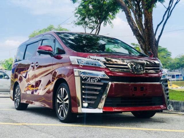 Latest Model Rare Maroon 2018 Toyota Vellfire Zg Cars For Sale