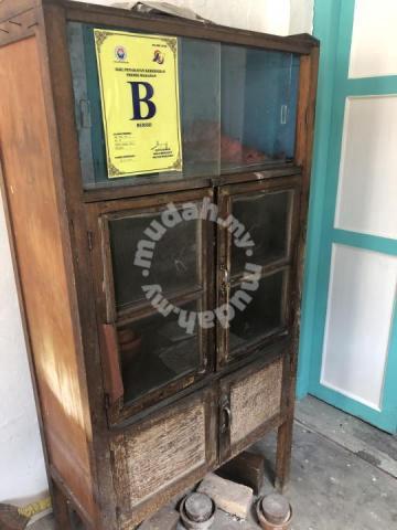 Antique Vintage Wooden Kitchen Cabinet Old School Furniture Decoration For Sale In Bangsar Kuala Lumpur Mudah My