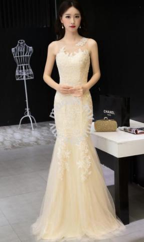 Cream Red Mermaid Wedding Gown Dress Gown Rbp1081