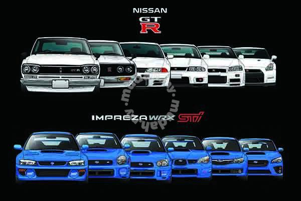 Nissan Skyline Gtr For Sale >> Poster NISSAN SKYLINE GTR SUBARU EVOLUTION - Hobby & Collectibles for sale in Cheras, Kuala Lumpur