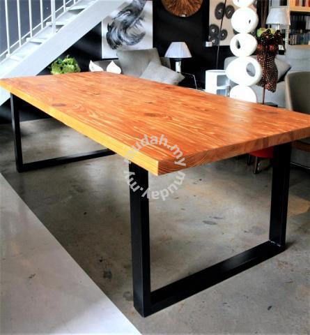Solid Pine Wood Dining Table Frm5050b Furniture Decoration For Sale In Johor Bahru Johor Mudah My