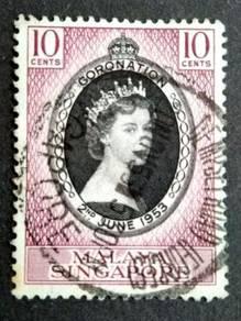 Malaya 1953 Singapore Queen Elizabeth II #7