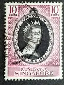 Malaya 1953 Singapore Queen Elizabeth II #5