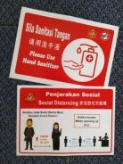 SOP Stickers 'Distancing' and 'Sanitiser' 2pcs