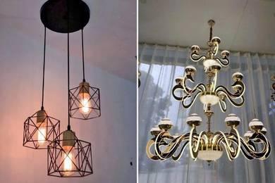 Install lampu hiasan