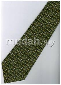 EG8 Green Batik Quality Striped Formal Neck Tie