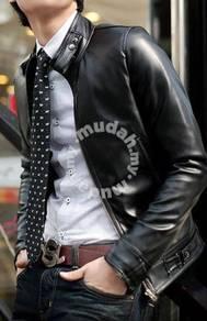 Korean stylish zipper biker leather jacket