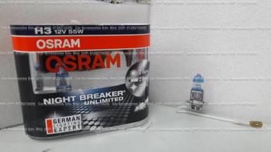 Osram night breaker unlimited 110%more light h3