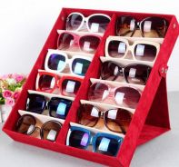 Quality glasses storage box 12 grid