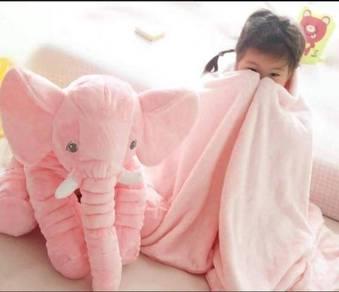 Cute Elephant Soft Plush Toy Pillow (PINK)