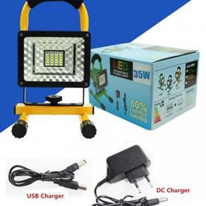 Led 35w rechargeable emergency flood light usb
