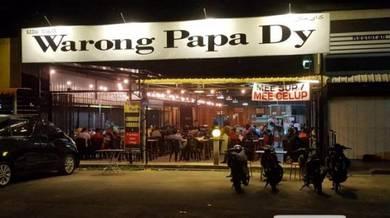 Kedai makan utk disewa gong badak