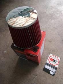K&n air filter 3' inci steel