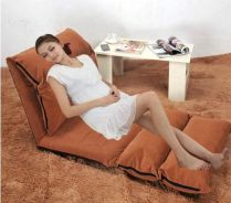 Fabric Folding Single Person Futon Sofa