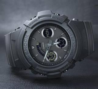 Watch-Casio G SHOCK BLACK OUT AW591BB-1-ORIGINAL