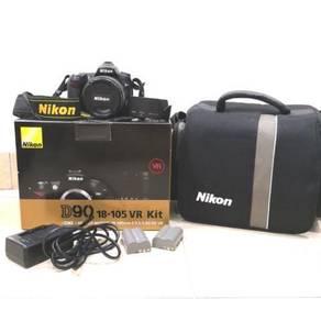 100% Original Nikon D90+18-105mm VR lens box set