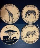 Cork Pot Stands (African Wildlife Series)