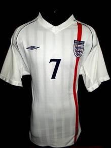 England 2002-2003 Beckham home jersey XL