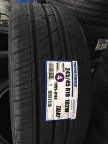 Tayar Baru Mercedes S63 S65 Toyo Size 245 45 19