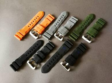 PANERAISubmersible 24 mm Color Rubber Watch Strap