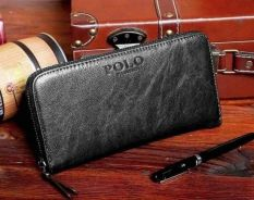Polo Genuine Leather Men's Long Wallet