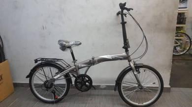 Vogue 20er 6sp gry Bicycle folding basikal lipat
