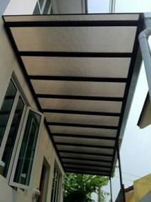 Awning polycarbonate skylight