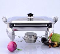 Professional Stainless Steel Buffet Serving Tray