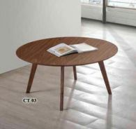 New round vyneer coffee table