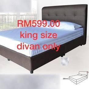 King size fabric divan