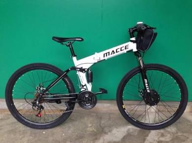 MACCE 26inch 21spd elektrik basikal lipat