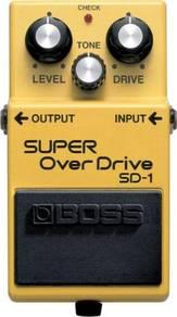 Boss sd-1 sd1 sd 1 super over drive