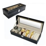 Watch box pu leather 6 slots / box jam 12
