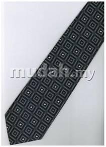 ES6 Silver Dark Box Striped Formal Neck Tie