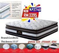 Queen size Spring mattress (M- Enternal Love) 23/7