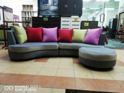 4 seater with stool fabric sofa (M-1817-A) 23/7