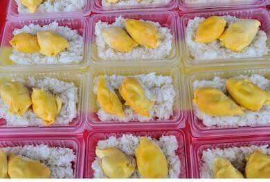 Pulut durian terlajak sedap