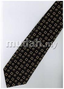 EB8 Black Gold Box Quality Striped Formal Neck Tie