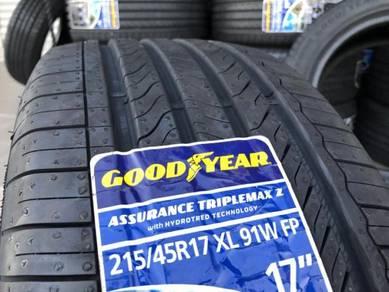 Tayar Baru 215 45 17 Goodyear assurance triplemax
