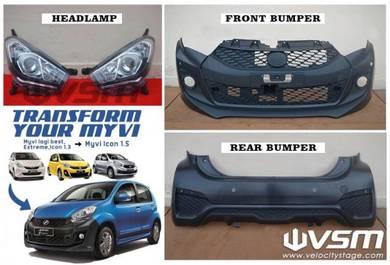 NEW Myvi Icon 15 Front Bumper Rear head lamp lampu