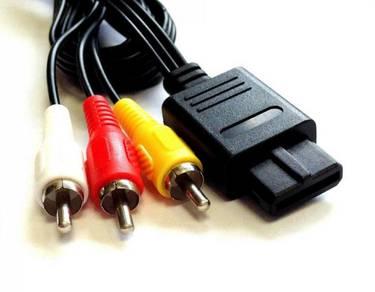 NEW AV Video Cable For SNES NINTENDO 64 N64