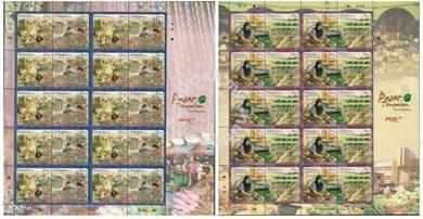 Stamp Sheet Local Markets Malaysia 2010