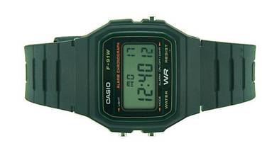 CASIO Digital Vintage Series Rubber Watch F-91W-3D