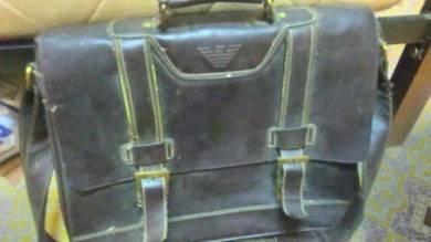 GA Blue Leather Bag